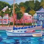 Karen Sheridan oil paintings on display at Plum Gallery